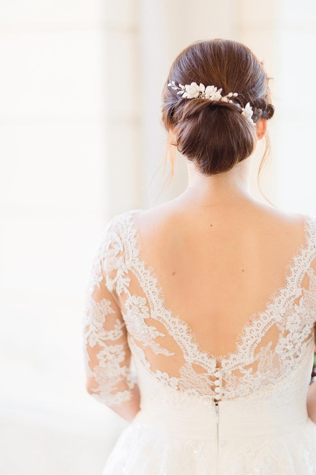 Brautfrisur hochgesteckt mit Haarschmuck, Brautfrisur lange Haare