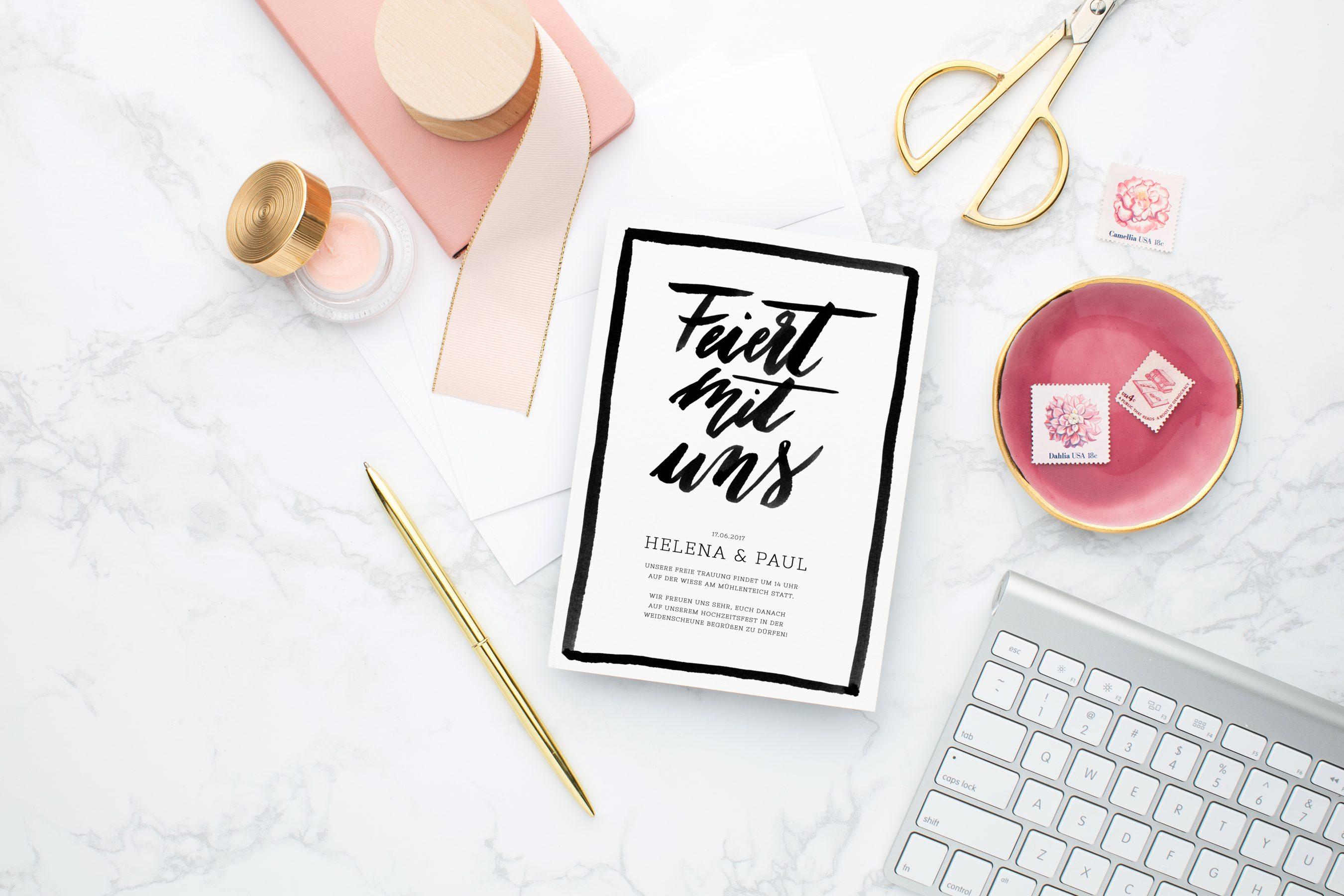 Hochzeitskarten Download, Hochzeitskarten zum Runterladen, Hochzeitskarten Digital Vorlage, Hochzeitskarten Brush Lettering