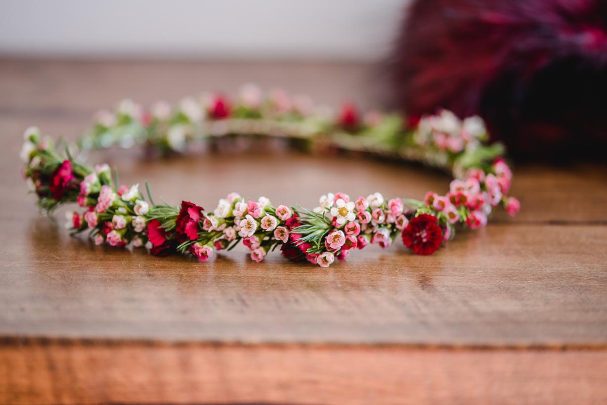 Haarkranz Braut, haarkranz Hochzeit Waxflower, Haarkranz Wachsblumen