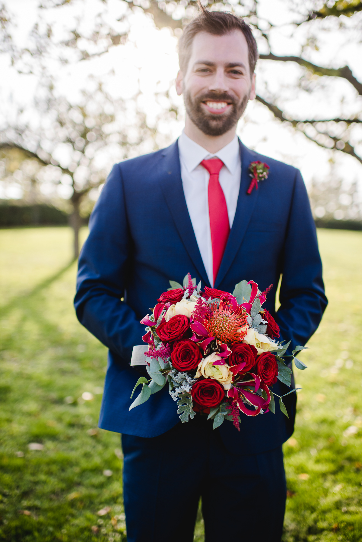 Brautstrauß Herbst rot, Brautstrauß Herbsthochzeit