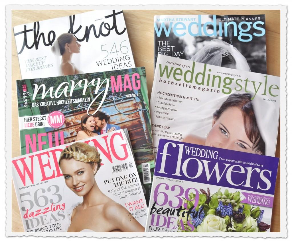 Die schönsten Hochzeitsmagazine