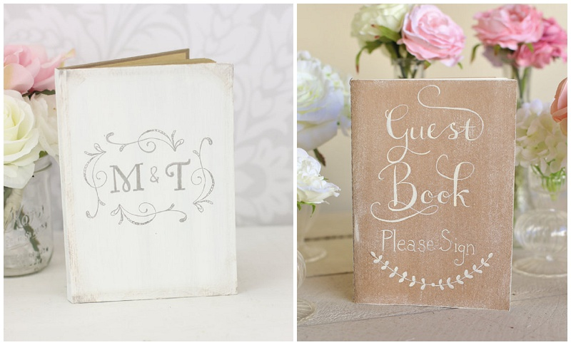Gästebücher für eine rustikale Hochzeit