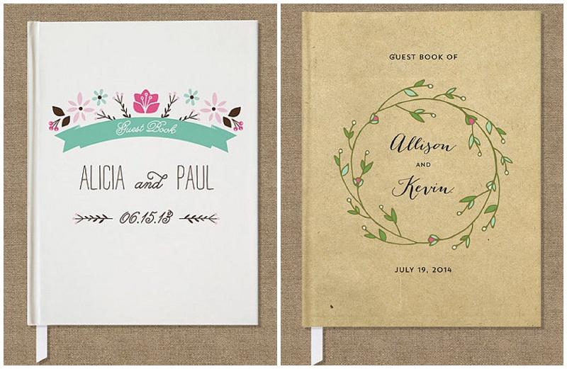 Gästebücher für die Hochzeit von Etsy craftypiepress