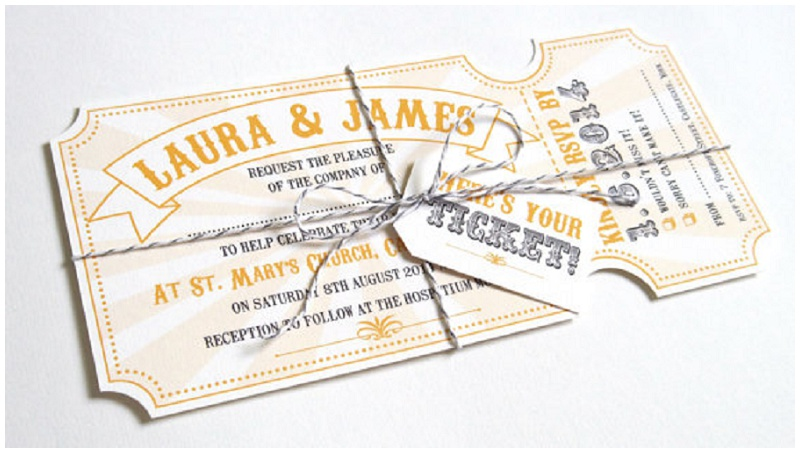 Einladungskarte Hochzeit Zirkus