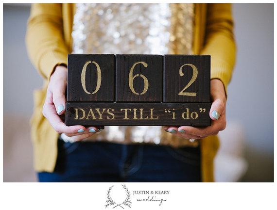Hochzeitscountdown Datumsanzeige-etsy von kearydee