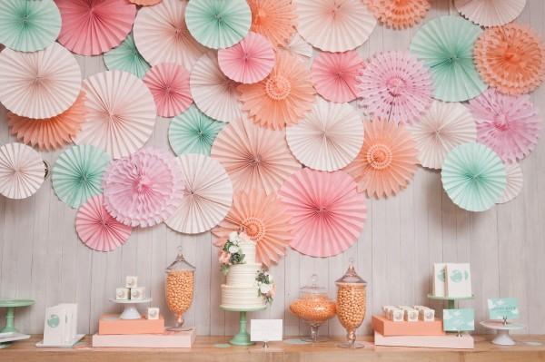 Pastell Palette: Sommerhochzeit in mint, pink und pfirsich