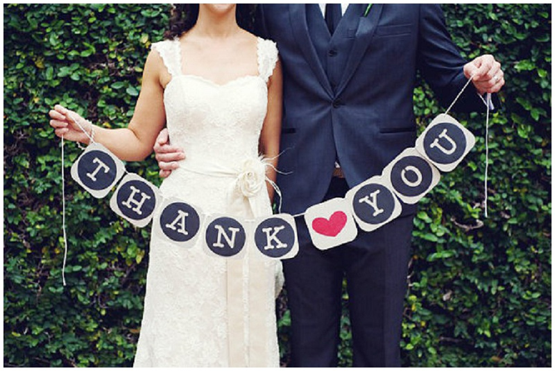 Danke Girlande Hochzeit
