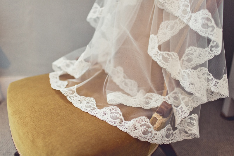 lace veil Isobel and Ed rustic Tipi Wedding Anna Clarke