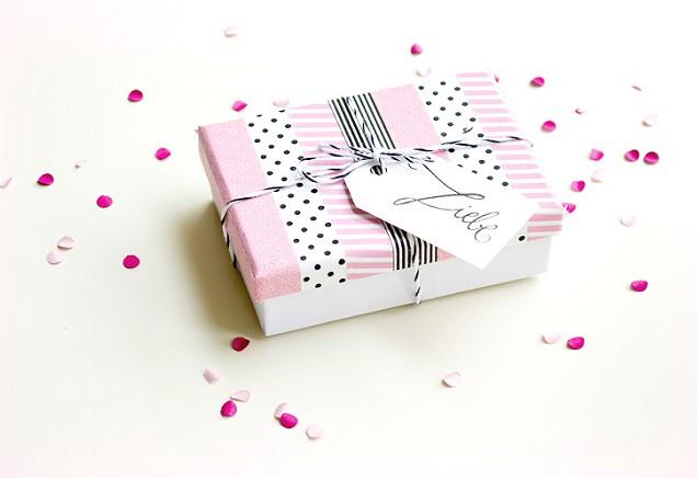 DIY: Schachtel für Gastgeschenk mit Masking Tape