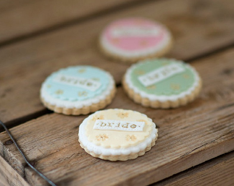 Nila Holden Wedding Cookies Bride