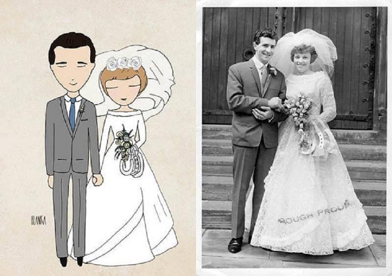Kreative Einladungskarten für die Hochzeit von Blanka Illustration