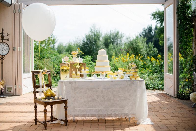 gelb hochzeitsdekoration kuchen