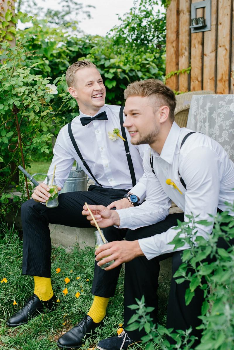 Bräutigam gelbe Socken