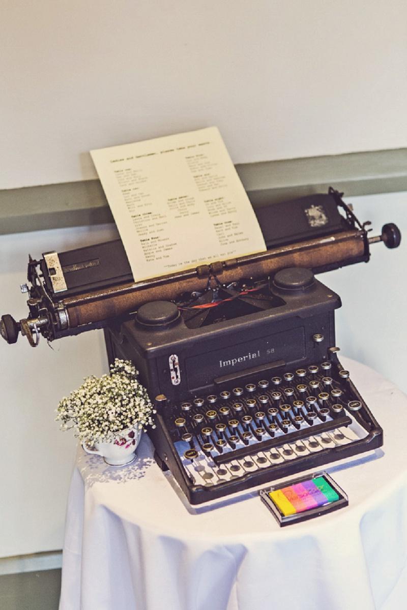 Gästebuch Schreibmaschine