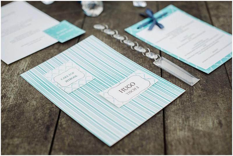 Hochzeitspapeterie hellblau