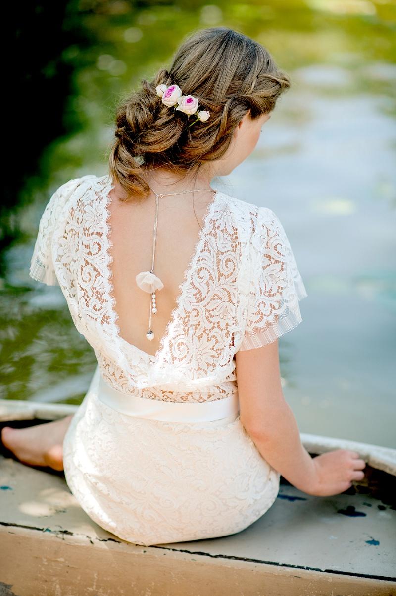 Brautkleid Spitze Rückenausschnitt