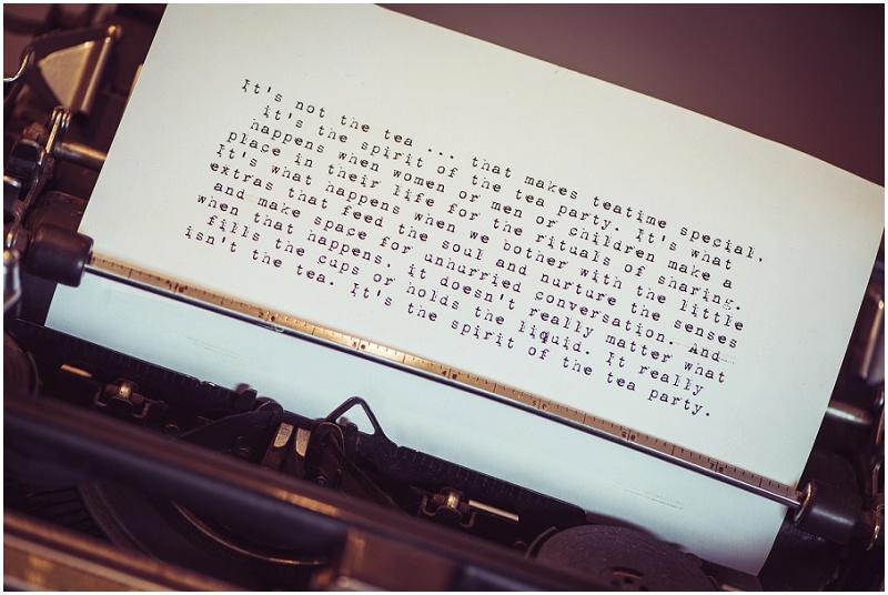 Hochzeit Vintage Schreibmaschine