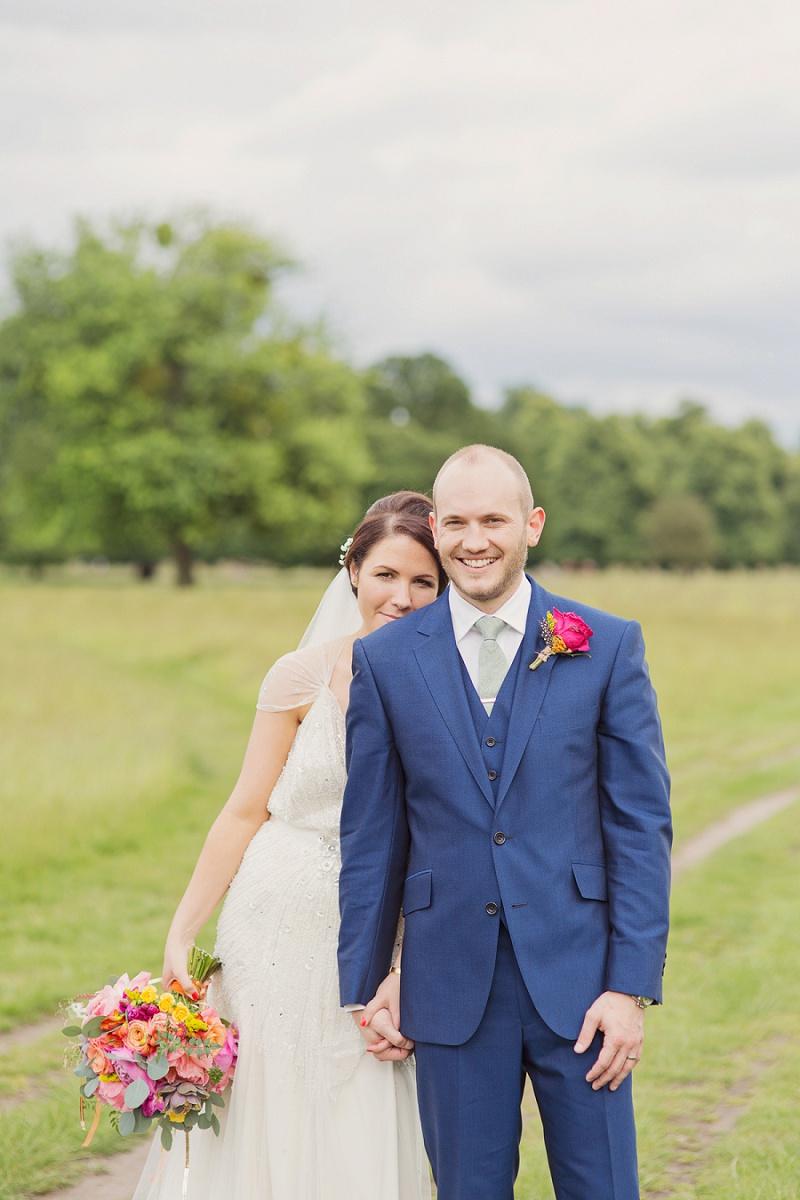 blauer Anzug Bräutigam - Jenny Peckham Brautkleid