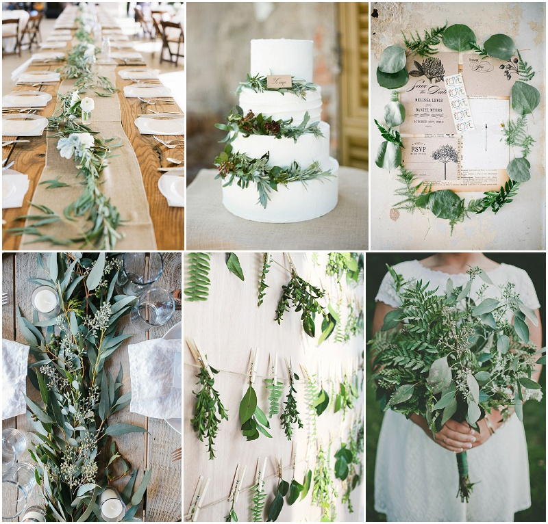 trend 2015 green botanical wedding hochzeitsblog the little wedding corner. Black Bedroom Furniture Sets. Home Design Ideas