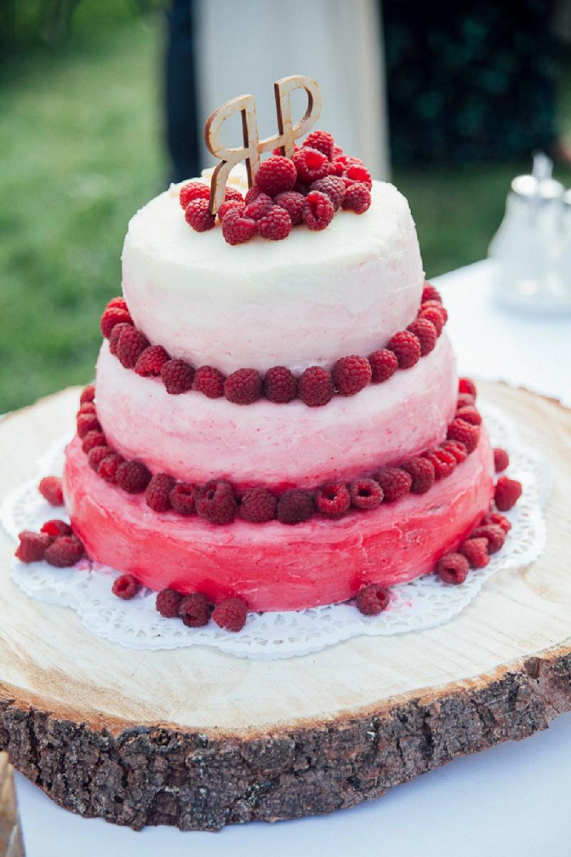Hochzeitstorte Himbeeren