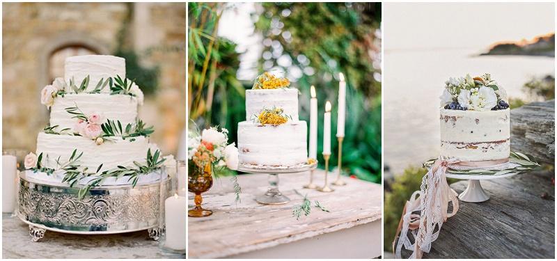 Hochzeitstorte weiß Olivenzweig