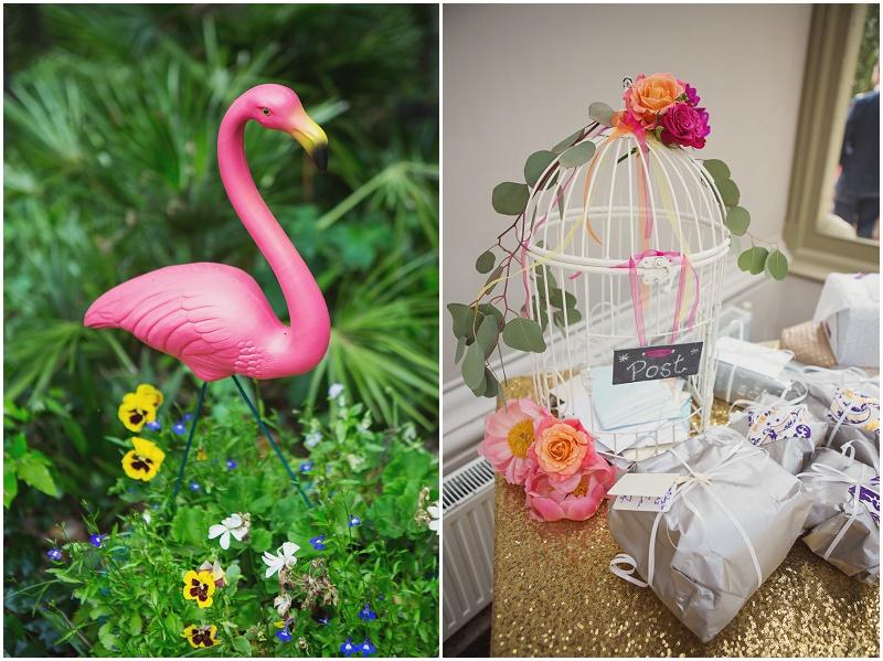 Hochzeit Deko Flamingo