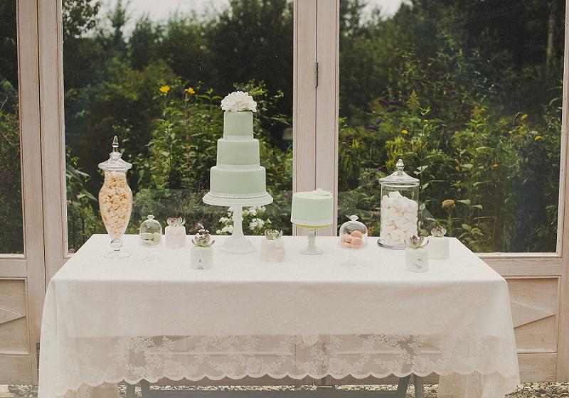 Hochzeitstorte mint