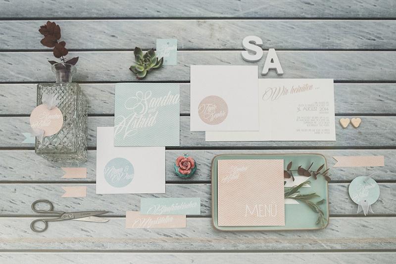 Einladungskarten Hochzeit pastell