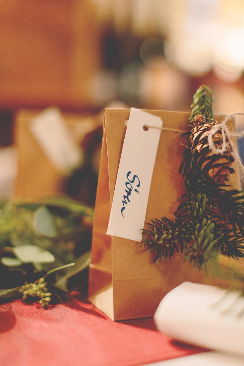 Gastgeschenk Hochzeit winterlich