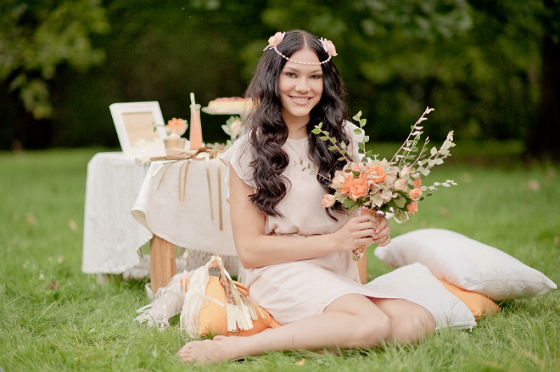Boho Hochzeit Apricot Gold