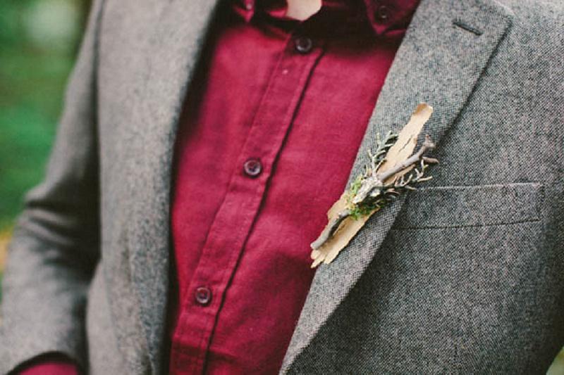 Bräutigam grauer Anzug