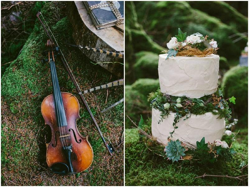 Hochzeitstorte Sukkulenten Farn