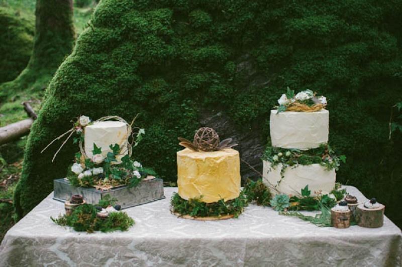 Hochzeit grün Wald