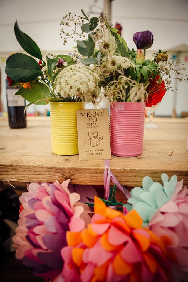 Hochzeit Papierblumen bunt