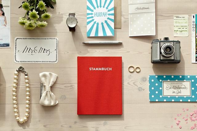 Stammbuch Hochzeit modern