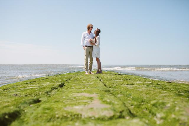 Ein Ja zu Zweit am Strand von Norderney von Roland Polczer