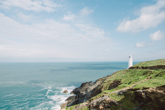 Trevose Head Lighthouse Cornwall Sehenswürdigkeit