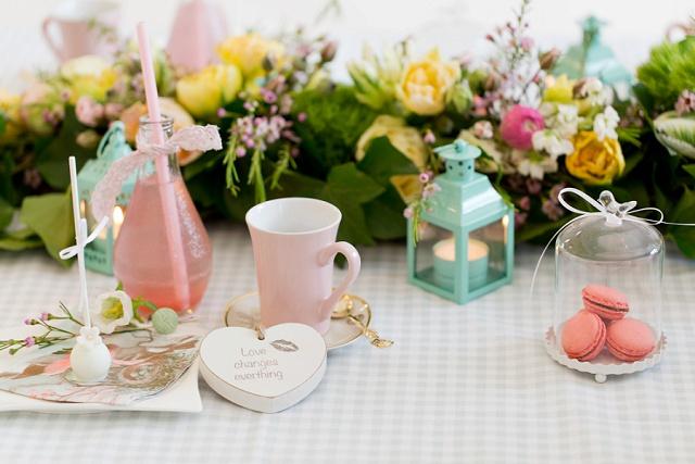 Frühlingshafte Bridal Party im Café Vita Provitina