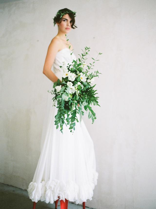 Brautstrauß überdimensional groß grün weiß