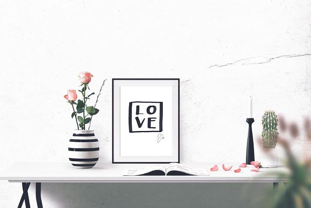 Gewinnt 1 x 3 Handlettering Prints rund um die Liebe und ein Hochzeitsmonogramm von Jeanette Mokosch