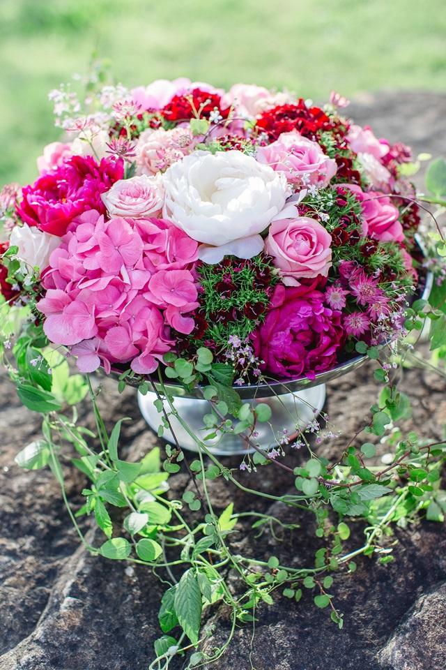 Brautstrauß Pfingstorsen rosa