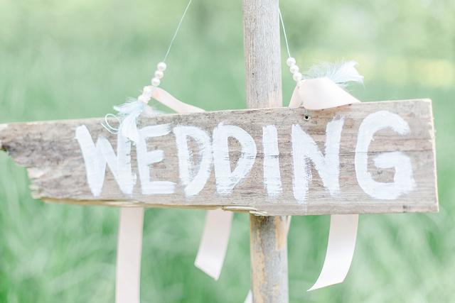 Hochzeit Holzschild