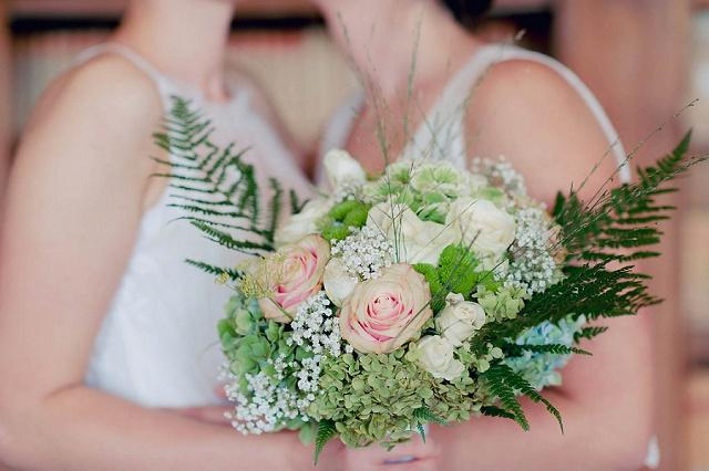 Brautstrauß grün