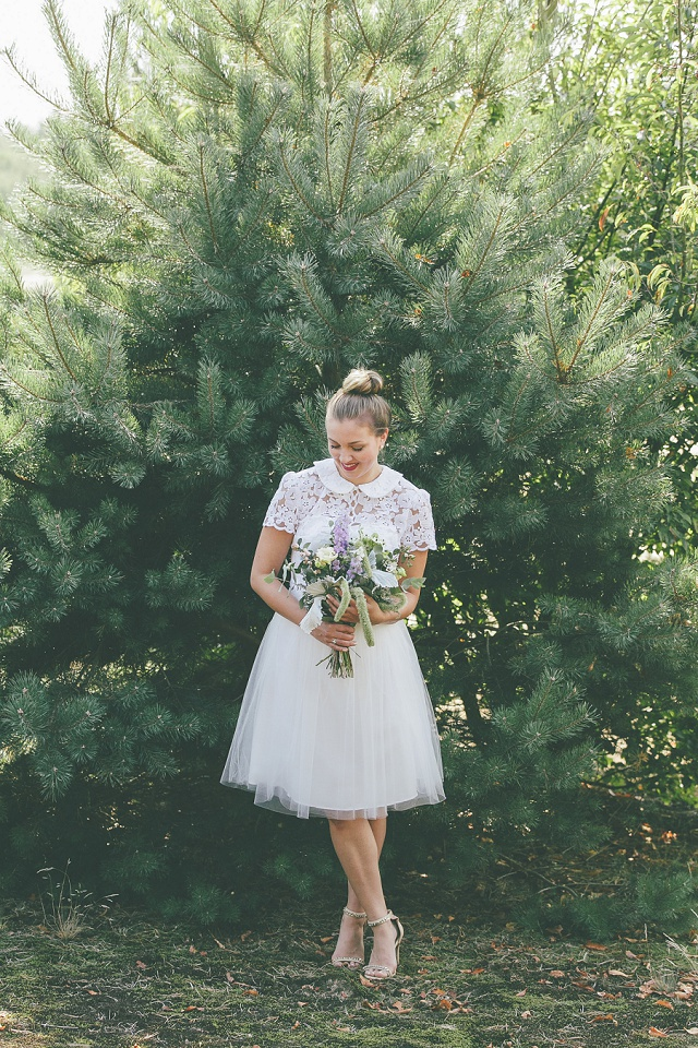 Brautkleid kurz Tüll