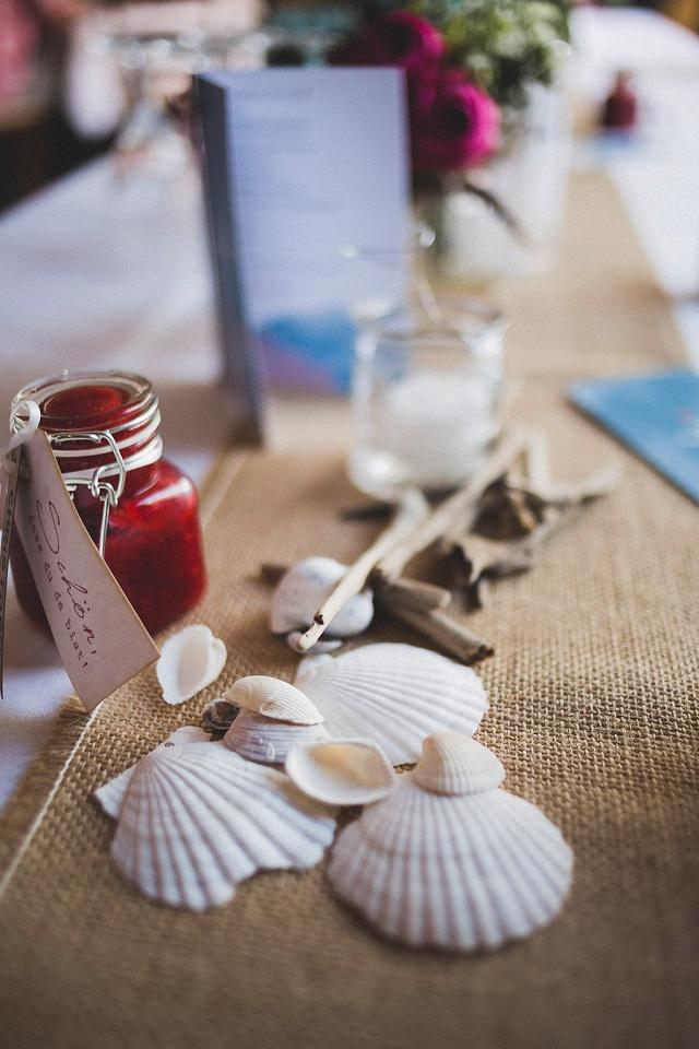 Tischdeko Muscheln Hochzeit