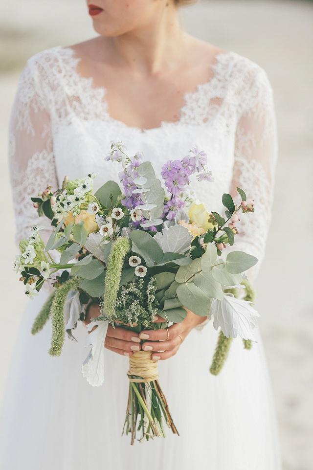 Brautstrauß Boho Eukalyptus