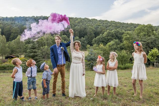 Wunderschöne Boho Hochzeit für geringes Budget