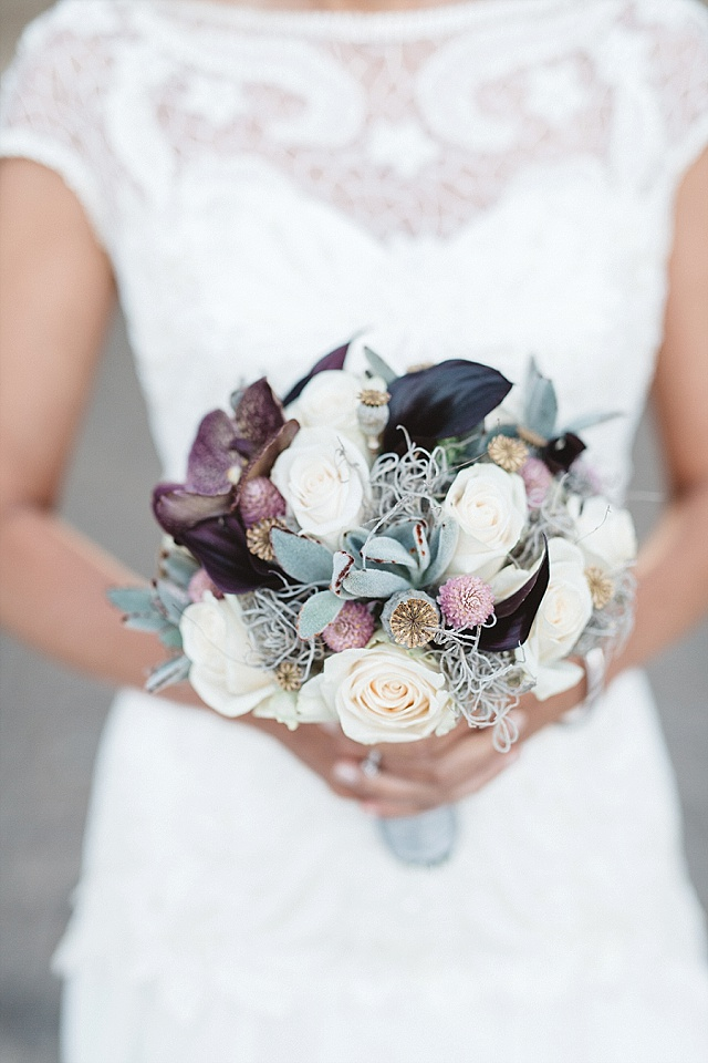 Brautstrauß Orchideen Callas