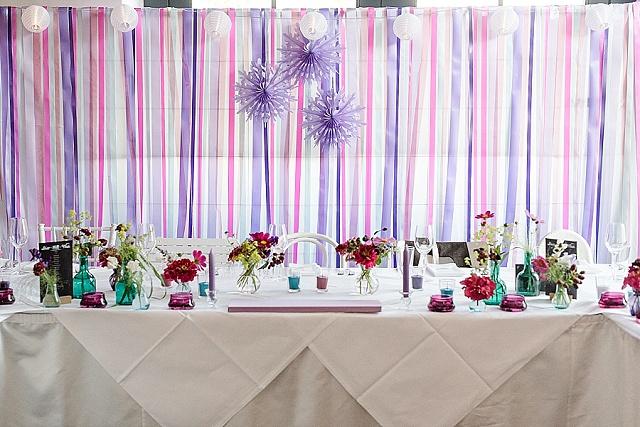 Hochzeit Dekoration Bänder lila rosa