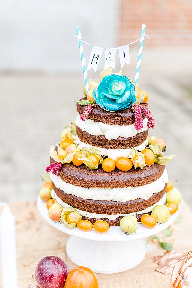 Naked Cake orange Physalis